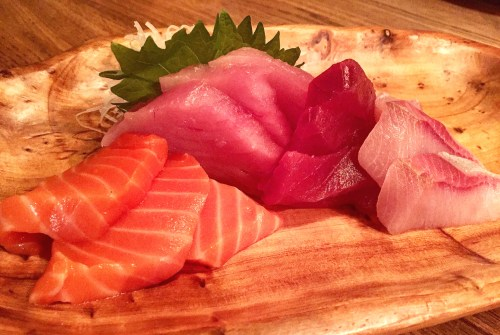 """The """"Sashimi Tasting"""" at Akiko's in SF."""