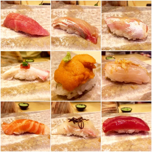 A fraction of the mouth-watering courses from an omakase dinner at Shuko earlier this year.
