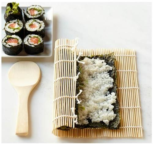 Sushi making kit courtesy of Williams Sonoma online.