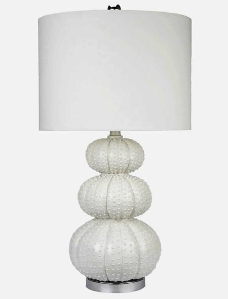 Sea urchin lamp courtesy of Brookstone.