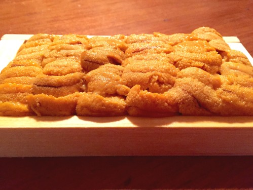 The fresh tray of Maine uni that I used for this recipe, picked up from Eataly in New York City for $22.80.